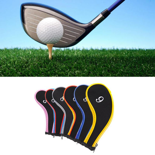 Set of 10 Pcs Golf Iron Headcover Golf Club Cover Sleeve Protective Case