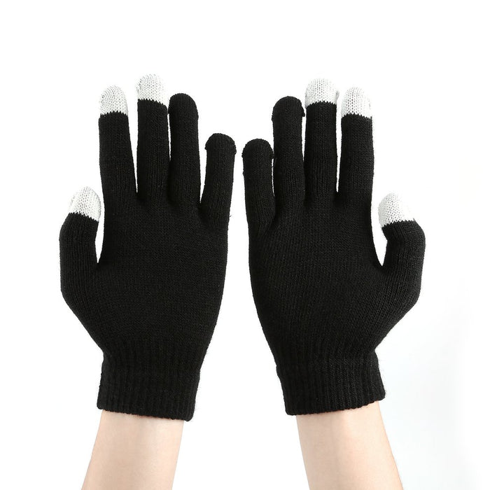 5PCS Wrist Gloves Thicken Warm Hand Winter Man Woman Capacitive Touch Screen Gloves Hand Warmer for iPhone for iPad3