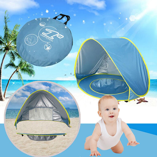 Waterproof Up Children Awning Outdoor Tent Baby Beach Camping Tent UV-protecting Sunshelter with Pool Kids Sunshade Beach Happy Game House Family