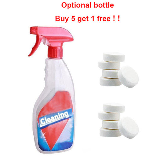 Multifunctional effervescent spray cleaner set tablets bathroom toilet Bath crock kitchen sink car glass All Purpose Cleaner