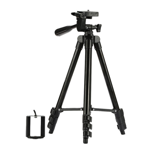 Camera Tripod Mount Video Camera Bracket Portable Phone Holder Hiking Camcorder Stand Aluminum with U-Clip Outdoor Office