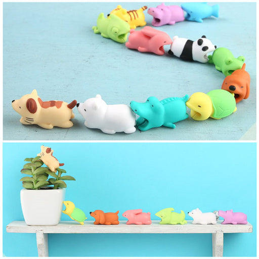 1pc Cable Bites Cables Protector for Smartphone Micro USB Cable Cord Diversified Doll Model Animal Phone Lightning Accessory Protects Cute (Duck)