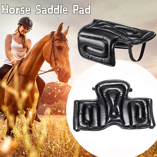 Black Thickening Soft Equestrian Western Saddle Cushion Pad Horse Seat Pad