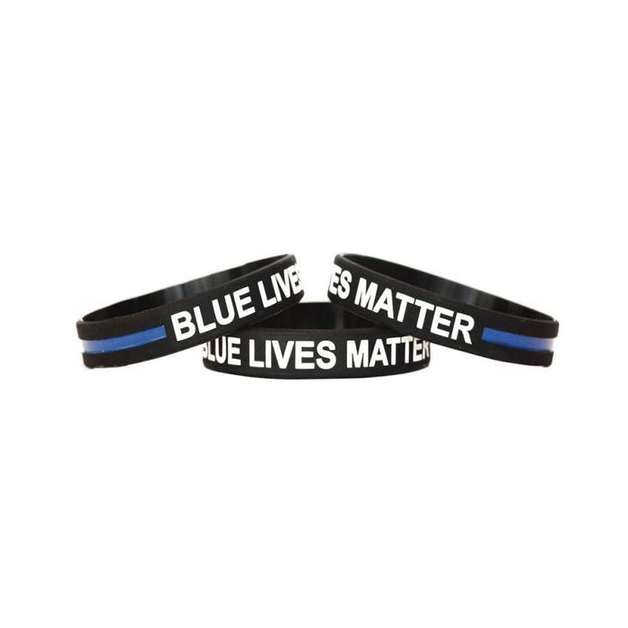 Blue Lives Matter Wristband  for adults Police Officers Patrol Awareness Support and Outdoor Sports