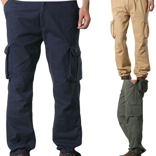Men Pocket Overalls Casual Pocket Sport Work Casual Trouser Pants