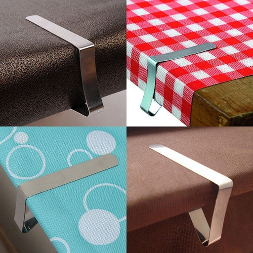 Stainless Steel Tablecloth Cover Clips Holder Cloth Clamps Party Picnic Prom
