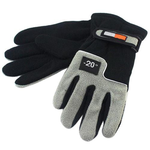 Men Winter Warm Fleece Thermal Motorcycle Ski Snowboard Gloves