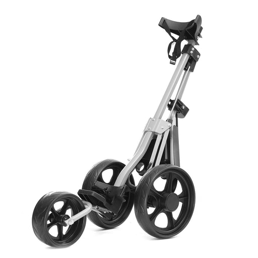 Foldable 3 Wheel Push Pull Golf Club Cart Trolley Swivel Anti-shock w/Brake