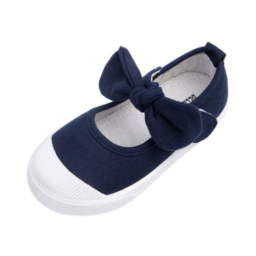 Baby Girl's Bow Casual Shoes Cotton Fashion Soft Comfortable Canvas Shoes For Baby To Walk