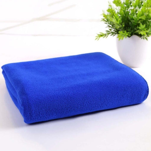 New Absorbent Microfiber Dry Bath Towel Blue