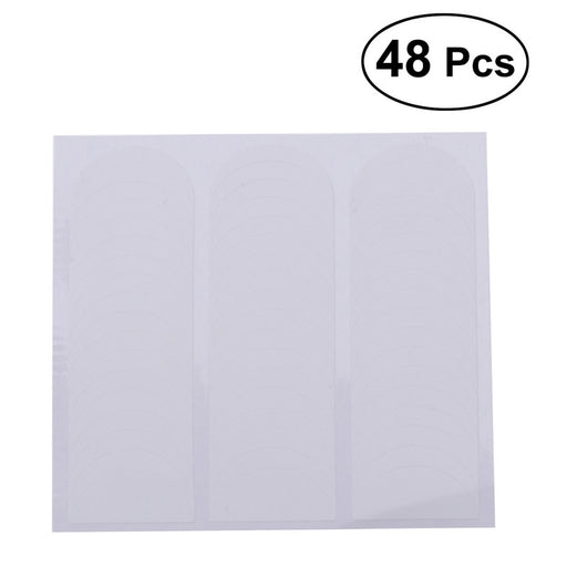 48Pcs Nail Art French Tip Stickers Form Fringe Guides Decals DIY Stencils