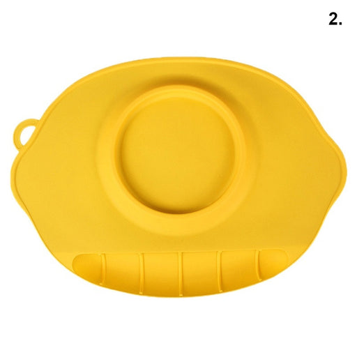 Toddler Baby Diner Portable Dish Bowl Plates Tray Infant Kids Bib Silicone Tableware Placemat Plate Food Holder