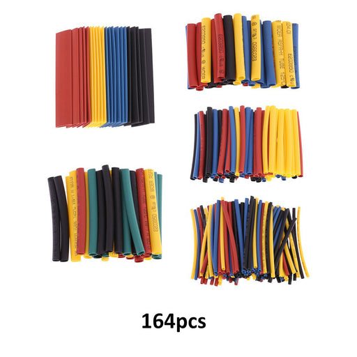 164pcs 8 Sizes Professional Colorful Polyolefin 2:1 Halogen-Free Heat Shrink Tubing Tube Sleeving φ1.0-φ14.0
