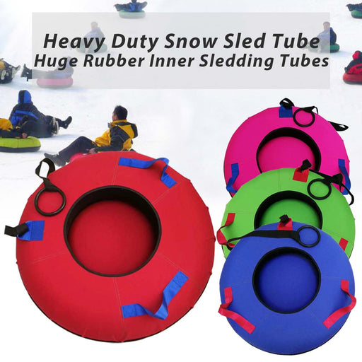 Heavy Duty Snow Sled Tubes Outdoor sports Skis inflatable skiing board Double design