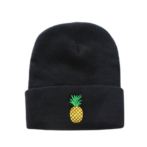 Fashion Unisex Winter Knitted Pineapple Embroidery Hat Warm Beanies Casual Couple Hip hop Caps