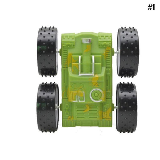 1pcs Car Four drive Inertia Double sided Resistant 360 Degree Stunt Kids Toy
