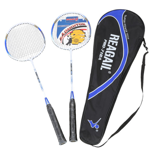 2Pcs Training Badminton Racket Racquet with Carry Bag Sport Equipment Durable Lightweight Aluminium Alloy