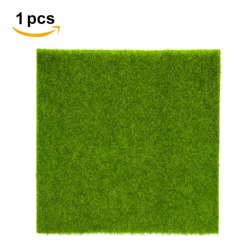 2 Sizes Synthetic Artificial Grass Mat Turf Lawn Garden Micro Landscape Ornament Home Decor
