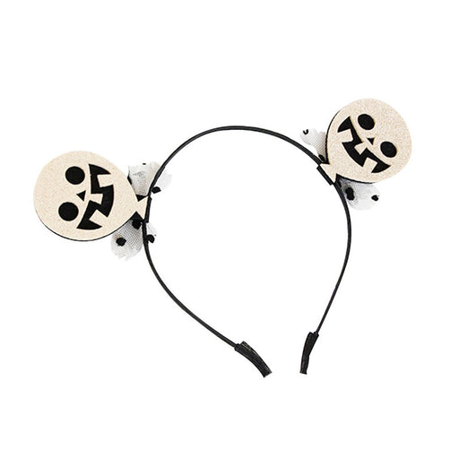Halloween Headband Skull Hair Hoop Headpiece for Kids Halloween Costume Party