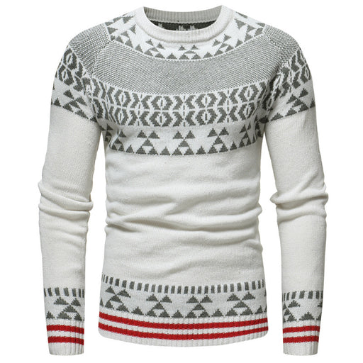 Men Sweater 2018 Fashion Round Neck Pullover Christmas