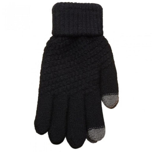 Casual Stretch Wrist Fashion Finger Warm Knit Solid Color Black Full Winter Gloves 48g Contrast Autumn Knitting Unisex