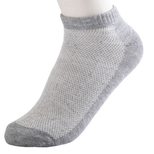Quality 5 Pairs Mens Ankle Socks Low Cut Crew Casual Sport Cotton Socks