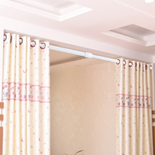 Adjustable Spring Loaded Tension Rod Shower Extendable Curtain Closet Window Rail Pole
