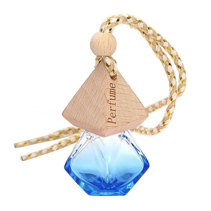 NEW Printed Hanging Perfume Car Bottle Air Freshener Diffuser Fragrance