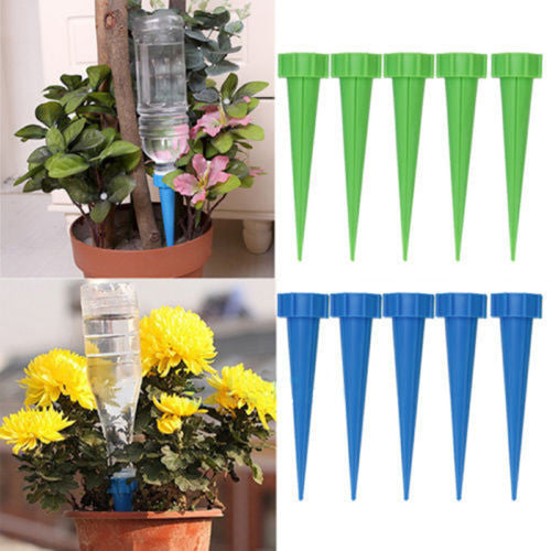 Automatic Garden Cone Watering Spike Water Control Drip Cone Spike Flower Plant Waterers Bottle Irrigation System