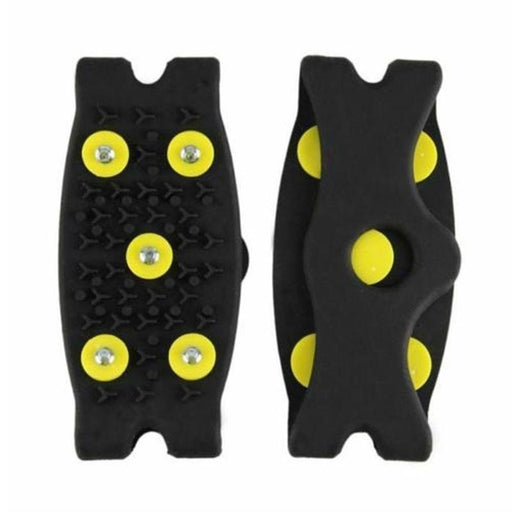 Anti Slip Snow Ice Climbing Spikes Grips Crampon Cleat Shoes Cover The Winter Ski Walking on The Ice Climbing Shoe Cover Safety Spikes(1 Pair 5 Stud )