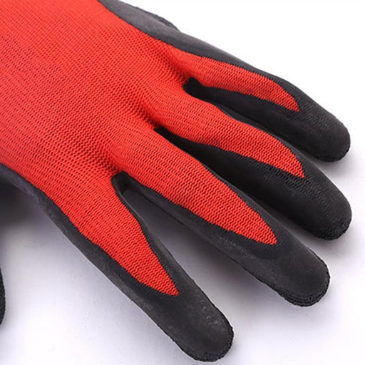 Home and Garden Black Rubber Nylon Wear resisting Non slip Latex Labor Protection Gloves Pine Tree Tools Bamboo Working Gloves for Garden Fishing Clamming Restoration