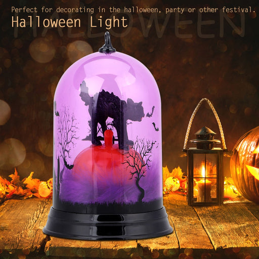 Halloween Pumpkin Color Flash Light Lamp Halloween Party Festival Decor