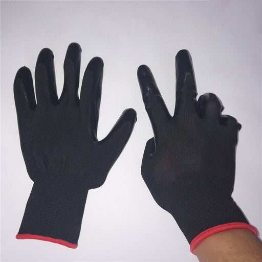 Red Nylon Gloves Labor Protection Gloves