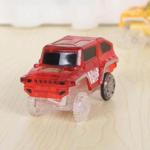 Children Plastic Model Toy Car Electric Light Rail Car Toy