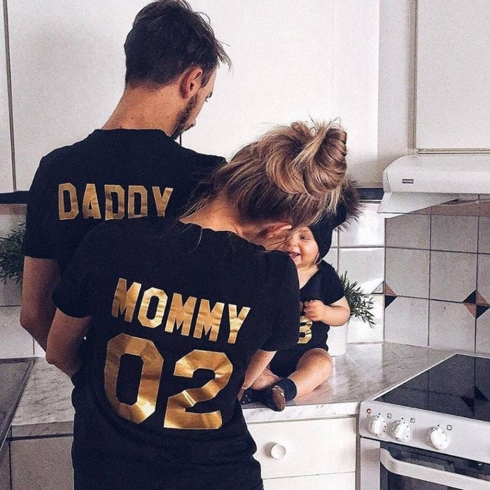 Summer New Digital Printing Parent child Family Parent child Shirt