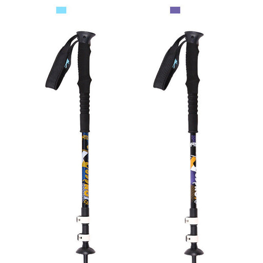 2pcs Pioneer North Star 2 Series External Lock Aluminum Alloy Climbing Cane Ski Pole