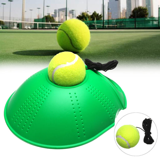 Tennis Singles Training Tool Practice Exercise Self-study Rebound Ball Baseboard