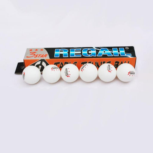 Regail 6 Pcs/Box Standard 3 Star Table Tennis Balls  Training Table Tennis Accessories