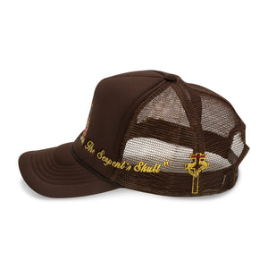 Virgin Mary Trucker Hat (Brown)