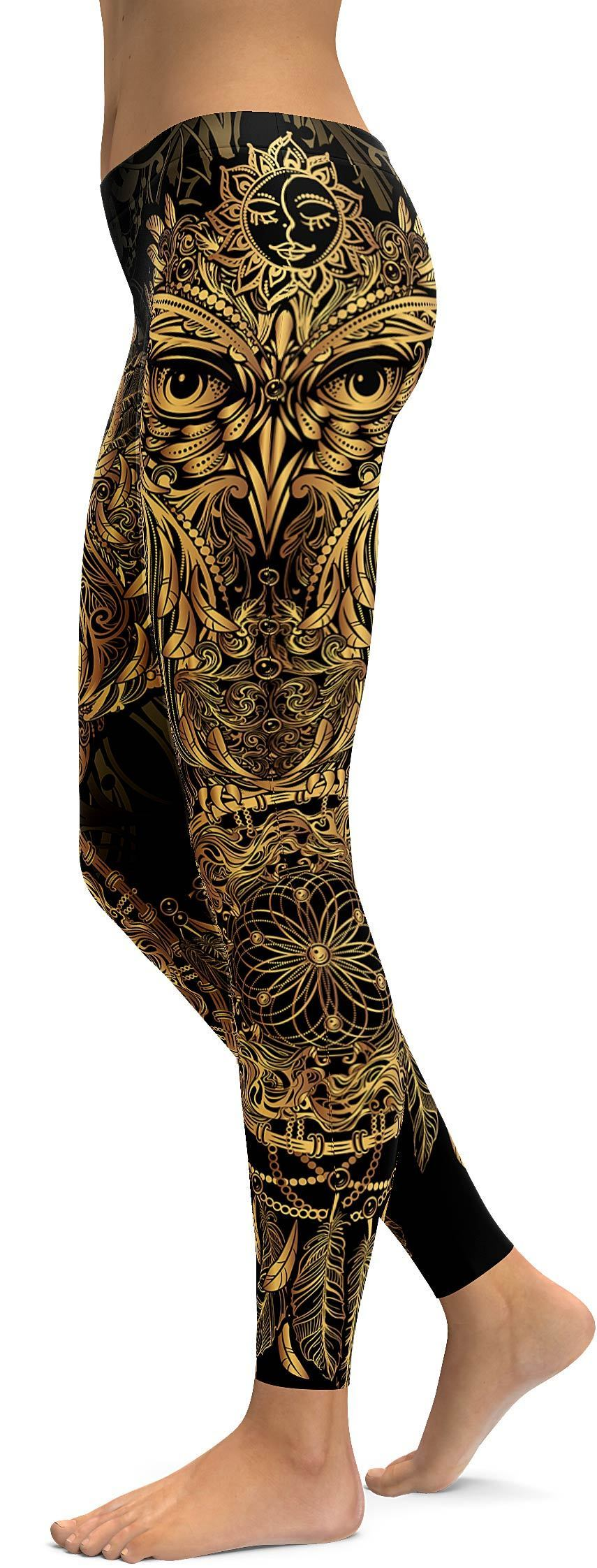 Buy 2 Worldwide Free SHIPPING—Golden Ornamental Owl Leggings