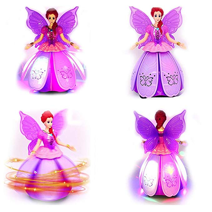 Multifunction Dancing Princess Music Doll LED Electronic Robot,Great Gift for Girls