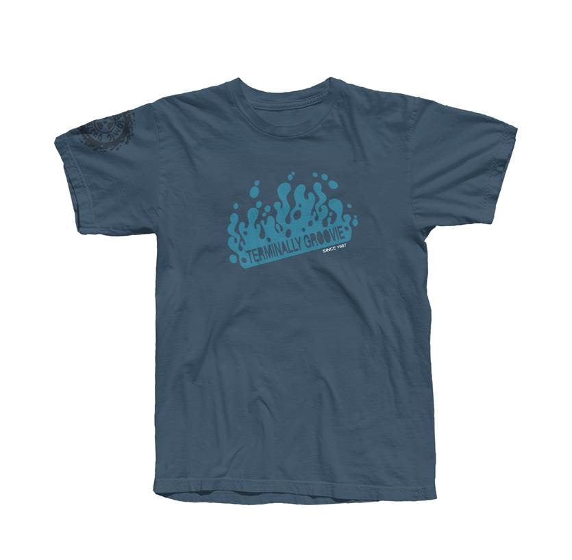 Terminally Groovie Dusk Blue T-Shirt *ONLINE EXCLUSIVE*