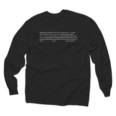 Kill Your Television Longsleeve Black T-Shirt