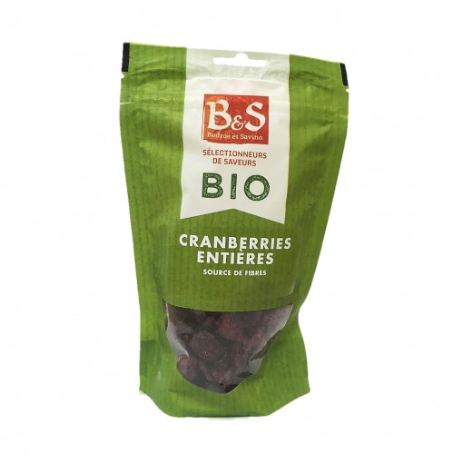 Cranberries entières Bio 100g - B&S
