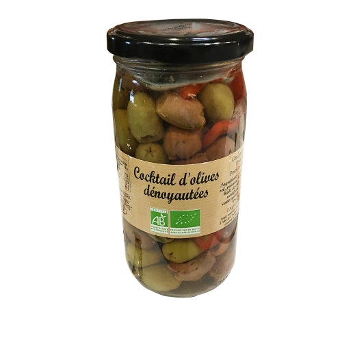 Cocktail d'Olives Dénoyautées BIO pot 37 cl