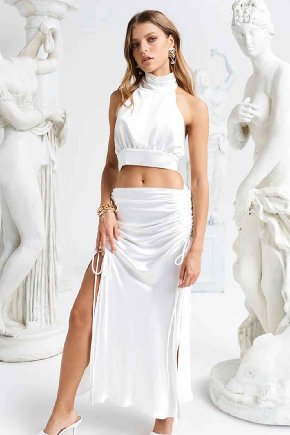 LE PARIS MAXI SKIRT - WHITE (4493952155737)