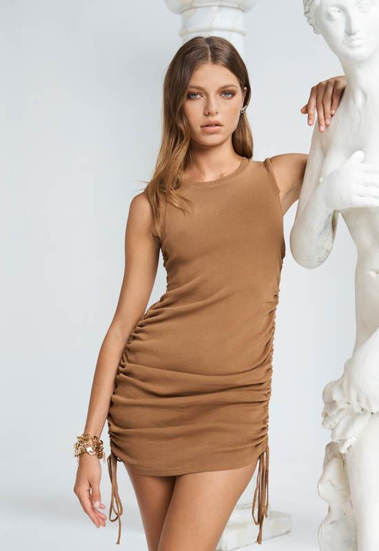 MILITARY MINDS MINI DRESS - CAMEL (4663585144921)