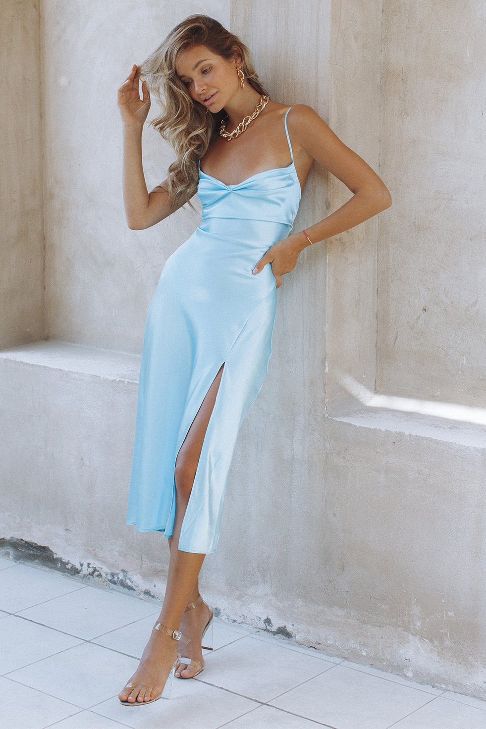 MAGIC LOVE SLIP DRESS - AQUA (6156421857458)