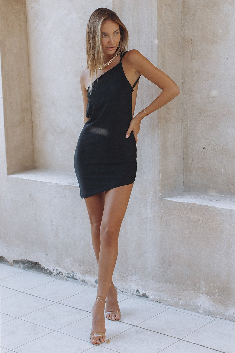 THE CLAUDIA DRESS - BLACK (6242521776306)