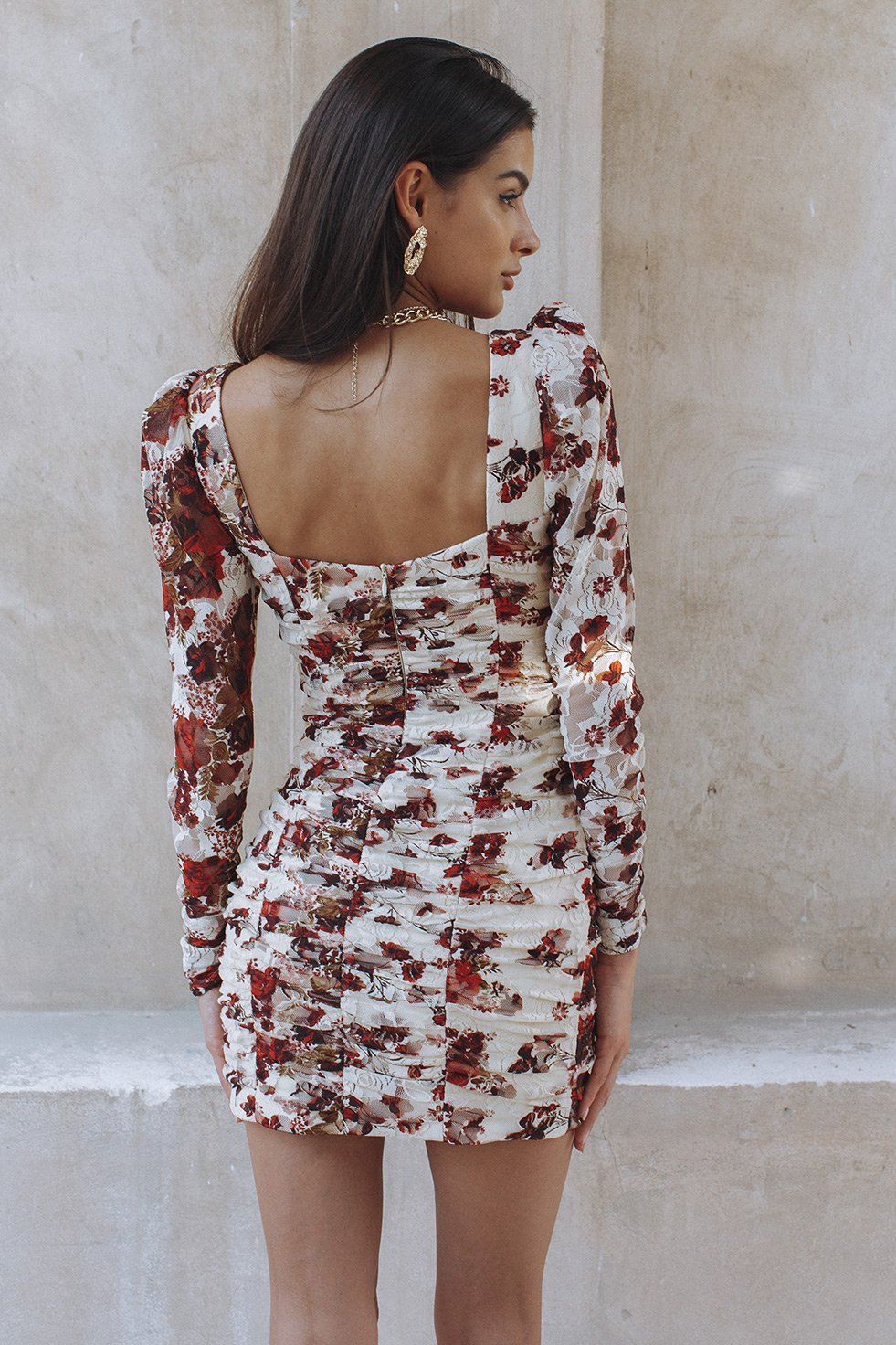 PRIMROSE DRESS - BERRY FLORAL (6232725258418)